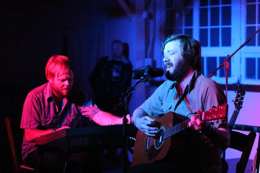 Eric Pulido and Eric Nichelson of Midlake at the Palm Door, Friday, March 15, 2013, in Austin, TX. Molly Tester/DRC